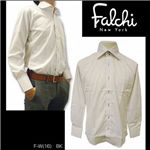 Falchi NewYork(ファルチ ニューヨーク) メンズドレスシャツ F-W-BK #16(ブラック ドット) LLサイズ(43−86)