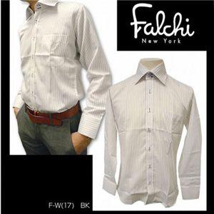 Falchi NewYork(ファルチ ニューヨーク) メンズドレスシャツ F-W-BK #17(ブラック ストライプ) LLサイズ(43−86)