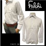 Falchi NewYork(ファルチ ニューヨーク) メンズドレスシャツ F-W-BK #17(ブラック ストライプ) Mサイズ(39−84)