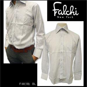 Falchi NewYork(ファルチ ニューヨーク) メンズドレスシャツ F-W-S.BL #18(スカイブルー) LLサイズ(43−86)