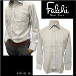 Falchi NewYork(ファルチ ニューヨーク) メンズドレスシャツ F-W-S.BL #18(スカイブルー) Lサイズ(41−84)
