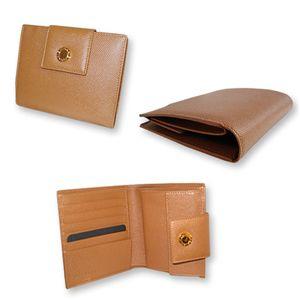 BVLGARI(ブルガリ) 20395 2つ折り 財布 キャメル