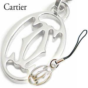 Cartier(カルティエ) 2Cモチーフ携帯電話ストラップ T1220326・シルバー