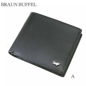 BRAUN BUFFEL(ブラウンビュッフェル) 財布 二つ折り 黒A/BB01 JWM21牛革製