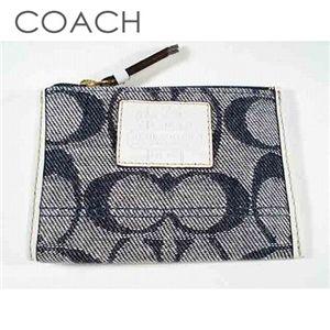 COACH(コーチ) デニム柄 コインケース 41180