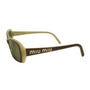 MIUMIU (ミュウミュウ) MU20GS 7BJ2N1 サングラス ブラウンベージュ×グレイ
