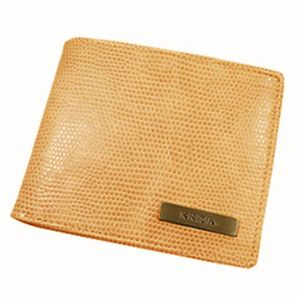 KRIZIA(クリッツア)LIZARDライン 2折財布キャメル