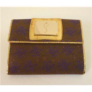 PARIS HILTON パリスヒルトン Wホック財布 WACA0654 CaffeLine くるみ×パープル