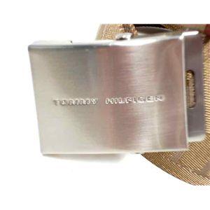 トミーヒルフィガー ベルト 08-4276 カーキ  M/L サイズ調節可