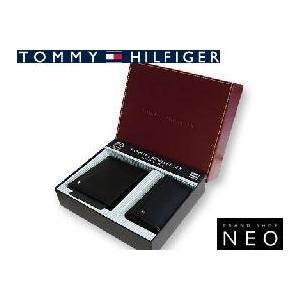 TOMMY HILFIGER トミーヒルフィガー 4494BK 2つ折 財布 名刺入れ セット