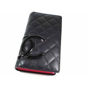 Chanel(シャネル) A26717 E/BK PK カンボンライン 長財布