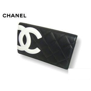 CHANEL(シャネル) A26722BK/WH カンボンライン 中 財布