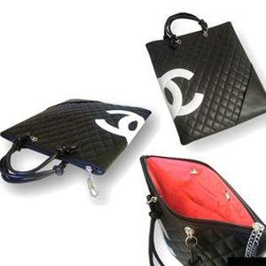 Chanel(シャネル) A28126 BK/WH カンボンライン バッグ