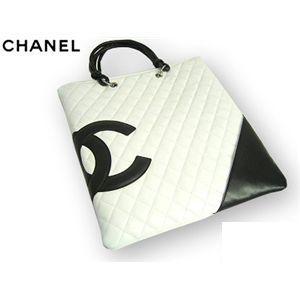 CHANEL(シャネル) A28126 WH/BK カンボンライン バッグ