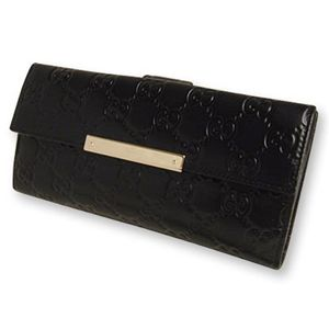 GUCCI (グッチ) 112715-A0V1G-1000 Wホック 2つ折り 長財布 [ SSIMA ]