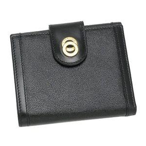 BVLGARI ブルガリ 25215 ドッピオトンド ダブルホック財布 ブラック×ゴールド
