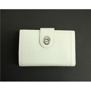 BVLGARI ブルガリ 25250 DOPPIOTONDO ドッピオトンド Wホック 二つ折り財布 ホワイト