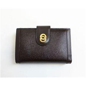 商品写真ブルガリ/BVLGARI 25252 ドッピオトンド Wホック 二つ折り財布/ダークブラウン