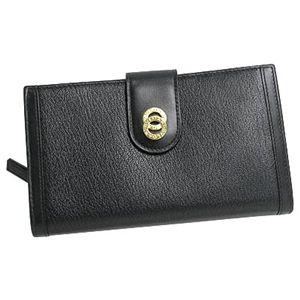商品写真ブルガリ/BVLGARI 25265 ドッピオトンド 二つ折り中財布/ブラック×ゴールド