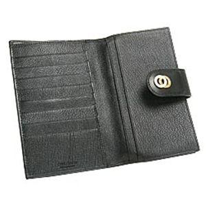 01ブルガリ/BVLGARI 25265 ドッピオトンド 二つ折り中財布/ブラック×ゴールド
