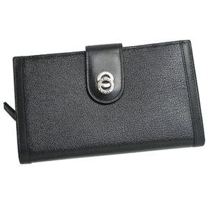 BVLGARI ブルガリ 26250 DOPPIOTONDO ドッピオトンド 二つ折り中財布 ブラック×シルバー