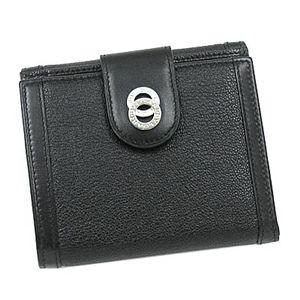 BVLGARI ブルガリ 26203 ドッピオトンド ダブルホック財布 ブラック×シルバー