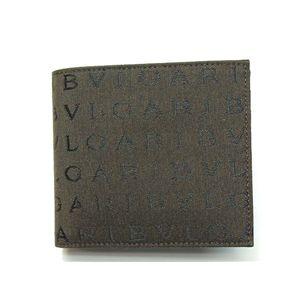 BVLGARI ブルガリ 22625 2つ折り財布 小銭入れ付き ダークブラウン