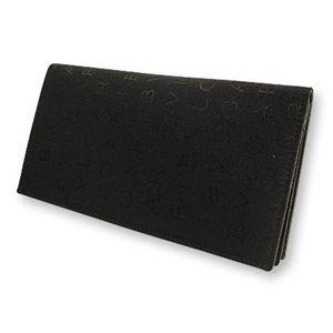 BVLGARI ブルガリ 22630 2つ折り長財布 小銭入れナシ ブラック×レッド
