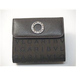 BVLGARI ブルガリ 25128 ダブルホック財布 ダークブラウン