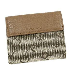 商品写真ブルガリ/BVLGARI 25120 マキシレターレ ダブルホック財布/ブラウン×ブラウン