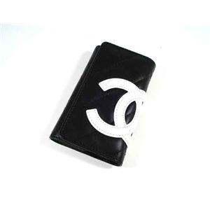 CHANEL(シャネル) A26723 BK/WH カンボン 6連 キーケース