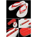 PRADA SPORTS LUNA ROSSA (プラダスポーツ ルナロッサ) サンダル LUY006 FLIP FLOP-RED+WHITE サイズ11/12