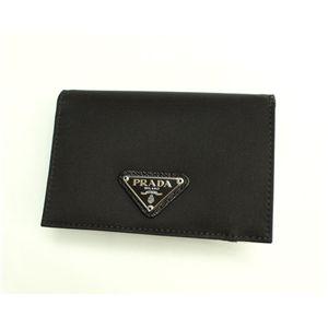 PRADA (プラダ) 二つ折り財布(札入れなし) 1M0504 TESSUTO NERO