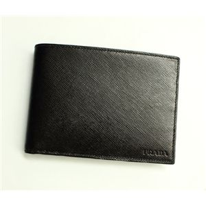 PRADA (プラダ) 二つ折り財布 2M0002 SAFFIANO NERO