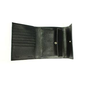 PRADA (プラダ) 三つ折り財布 1M0170 TESSUTO NERO