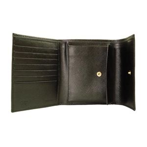 01プラダ/PRADA 三つ折り財布/M0170-SAFFIANO-ORO-NERO