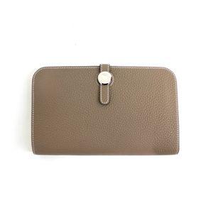 HERMES (エルメス) 財布 ドゴンGM トゴ エトープ シルバー金具