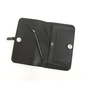 HERMES (エルメス) 財布 ドゴンGM トゴ ブラック シルバー金具