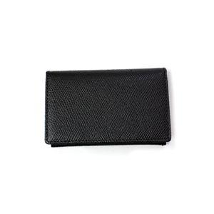 SONNE(ゾンネ)カードケース グレインレザー SOG028/BLK ブラック