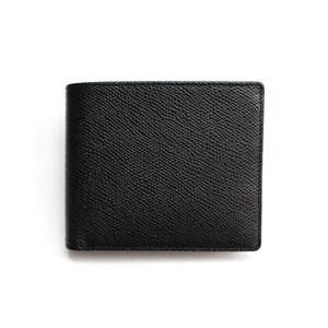 SONNE(ゾンネ)2つ折り小銭入付財布 グレインレザー SOG022/BLK ブラック