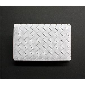 SONNE(ゾンネ)カードケース イントレチャート SOI008/WHT ホワイト