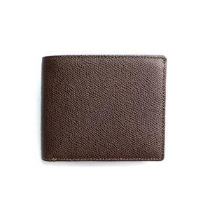 SONNE(ゾンネ)2つ折り小銭入付財布 グレインレザー SOG022/CHO チョコレート