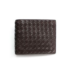 SONNE(ゾンネ)2ッ折財布(小銭入れ無し)イントレチャート SOI009/CHO チョコレート