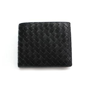 SONNE(ゾンネ)2ッ折財布 イントレチャート SOI002/BLK ブラック