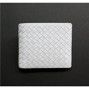 SONNE(ゾンネ)2ッ折財布 イントレチャート SOI002/WHT ホワイト