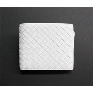SONNE(ゾンネ)2ッ折財布(小銭入れ無し)イントレチャート SOI010/WHT ホワイト