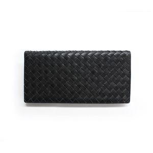 SONNE(ゾンネ)長財布(小銭入れ無し)イントレチャート SOI031/BLK ブラック
