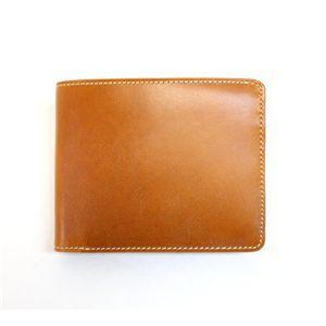 SONNE(ゾンネ)2つ折り小銭入付財布 ブライドルレザー SOW002/CAM キャメル