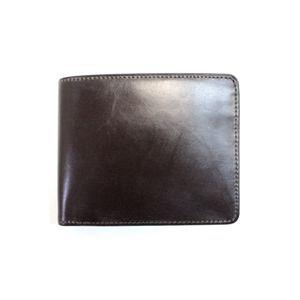 SONNE(ゾンネ)2つ折り小銭入付財布ブライドルレザー SOW002/CHO チョコレート