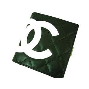 CHANEL(シャネル) カンボンライン がま口 財布 A26720 ブラック/ホワイト